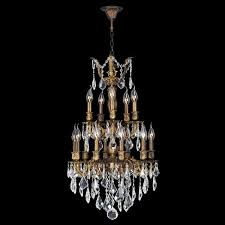 Bronze And Crystal Chandeliers W83344b19 Versailles 15 Light Antique Bronze Finish And Clear