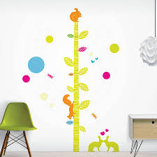 wall sticker height chart custom wall stickers wall sticker personalised childrens height chart stickers woodland friends height chart