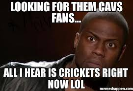 Cavs Memes - looking for them cavs fans all i hear is crickets right now lol