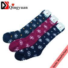fuzzy christmas socks custom thigh high women christmas fuzzy socks view thick women