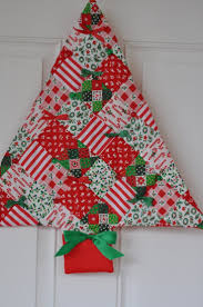 Quilted Christmas Tree Ornaments Cool Ideas To Have Fabric Christmas Tree Decoration Happy