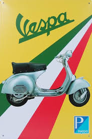 vespa scooter metal tin sign vintage style wall