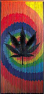 Bamboo Closet Door Curtains Bamboo Door With Marijuana Image