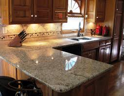 santa cecilia light granite to create glamour and modern kitchen