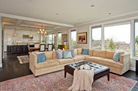 extraordinary open floor plan kitchen and living room for interior
