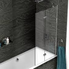 kudos inspire 2 panel in fold bath screen uk bathrooms kudos inspire 2 panel in fold bath screen