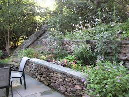 Landscaping Ideas Hillside Backyard Terraced Garden Designs Garden Interesting Easy Small Patio Ideas