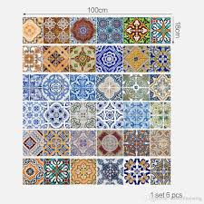 creative diy 3d stairway stickers ceramic tile pattern for room