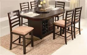 dining table set with storage newman39s furniture round pub dining table wlazy susan inside with