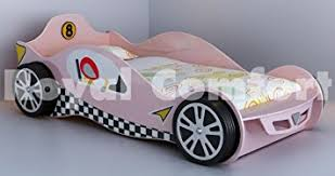 Car Bed For Girls by Pink Girls Racing Car Beds Childrens Toddler Bed Frame Amazon Co