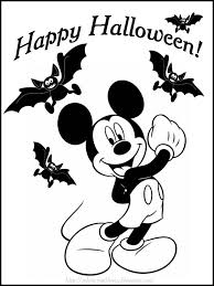 Happy Halloween Coloring Page by Mickey Mouse Mickey Inside A Halloween Pumpkin Coloring Page