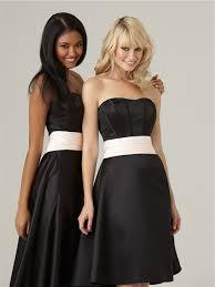 a line sweetheart knee length short formal black silk bridesmaid