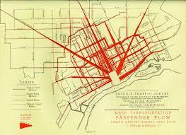 Traffic Map Boston by Detroit Traffic Survey Mass Transportation Passenger Flow