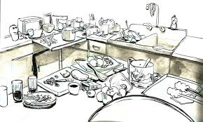 pictures of dirty kitchens cartoon clean kitchen theedlos