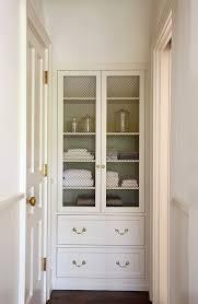 narrow hallway cabinet linen optimizing home decor ideas care