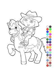 dora explorer coloring games free kids coloring pages
