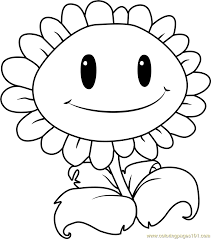 Giant Sunflower Coloring Page Free Plants Vs Zombies Coloring Sunflower Coloring Page
