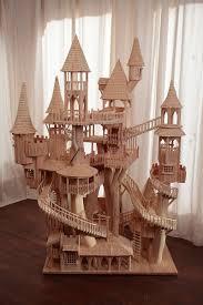 hand build architectural wood framework model house what joy rob heard bough house sculptures unique wooden art