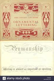 vere foster s copy books ornamental lettering stock photo royalty