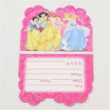 Princess Invitation Card Aliexpress Com Buy Princess Theme Girls Birthday Party Paper