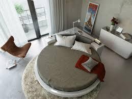 Contemporary White Lacquer Bedroom Furniture Plato Modern White Round Bed