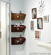 furniture creative bathroom storage with rattan basket idea