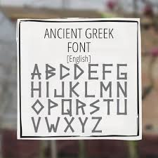 ancient font greekhouse of fonts