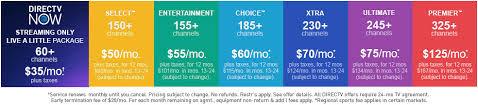 directv satellite tv prices packages u0026 deals in 2017