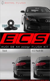 audi a4 wheel spacers ecs tuning b8 a4 ecs wheel spacer flush fit kit