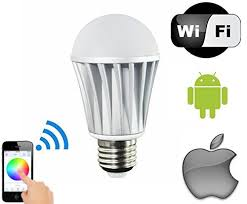 light bulbs controlled by iphone magiclight wifi led light bulb control your lights from anywhere