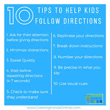 printable instructions classroom tips for following directions in the classroom