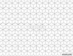 hexagon pattern background in grey colour and line art black and