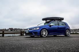 blue volkswagen blue vw golf upgraded by thule and avant garde u2014 carid com gallery