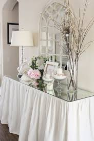 entry decor glass entryway table