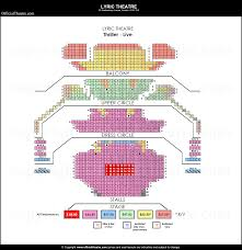 National Theatre Floor Plan by Lyric Theatre London Seat Map And Prices For Thriller Live