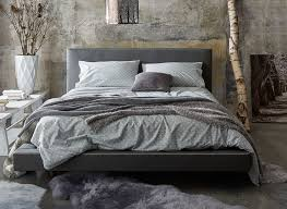 Faux Bed Frame Diaz Grey Faux Leather Bed Frame Dreams