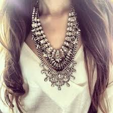 silver boho necklace images Jewels bib necklace silver diamonds girly big cute jewelry jpg