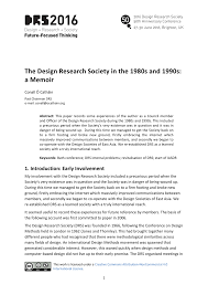 how to write introduction for a research paper the design research society in the 1980s and 1990s a memoir drs2016 the design research society in the 1980s and 1990s a memoir