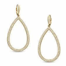 nadri earrings nadri pavé teardrop earrings in brass with 18k gold