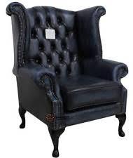 Blue Leather Armchair Blue Armchairs Ebay