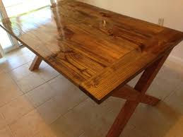 x leg dining table ana white x leg table diy projects