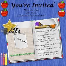 kindergarten graduation invitations preschool graduation poem kid graduations