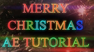 after effects tutorial christmas tree twinkling lights and flares