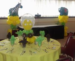 baby shower centerpieces for tables interior design awesome jungle theme baby shower table