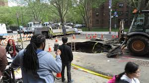 New York Sinkhole Map sinkhole on lower east side leaves residents businesses without