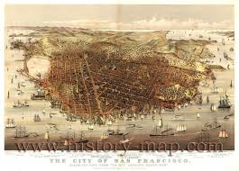Map Of The Dead Map Of The City Of San Francisco In The 1870s Relevant For The