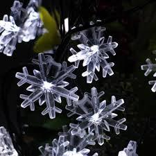 snowflake lights strings indoor outdoor