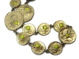 pauline rader jewelry pauline rader jewelry ancient coin necklace yellow glass