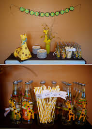 giraffe baby shower ideas giraffe themed baby shower the celebration society