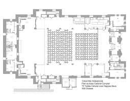 Theater Floor Plan Cabaret Style Théatre Paradoxe